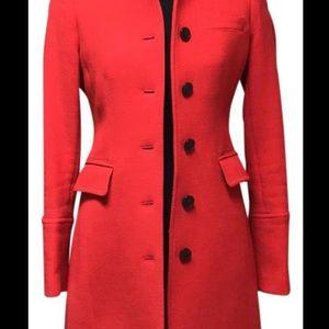 JCrew Lady Coat - size 8 - poppy